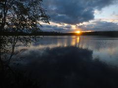 Карелия, Белое море пешком, река Калга