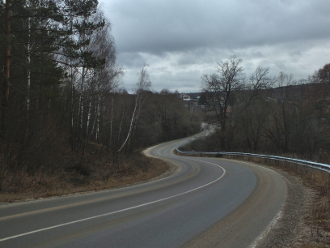 Дорога на Поленово. Заокский район